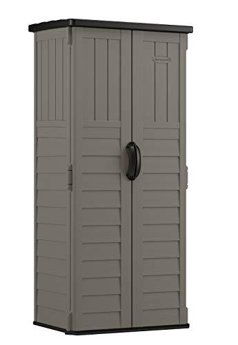 Suncast BMS1250SB Vertical Storage Shed, Stoney