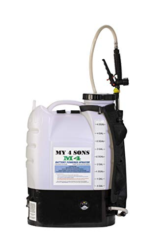 M4 MY4SONS 4-Gallon Battery Powered Backpack Sprayer Wide Mouth with Steel Wand and Brass Nozzle, Battery Included New extra comfort...