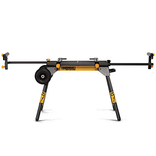 ToughBuilt - Universal 77' Miter Saw Stand - Universally Compatible, 2 Work Supports Extend to 77', Quick Release Leg Locks -...