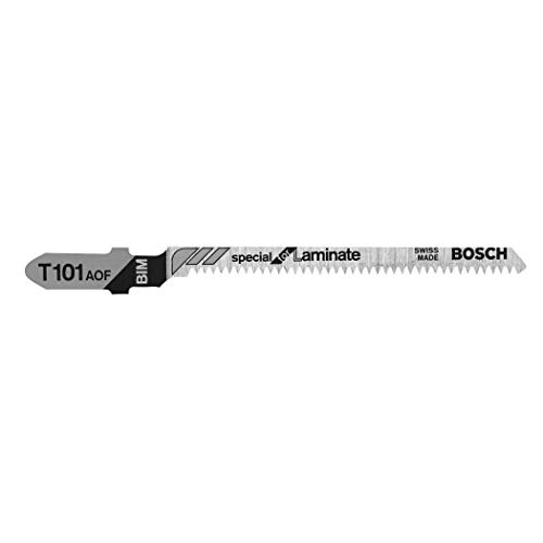 Bosch T101AOF 5-Piece 3-1/4 In. 20 TPI Special for Laminate T-Shank Jig Saw Blades