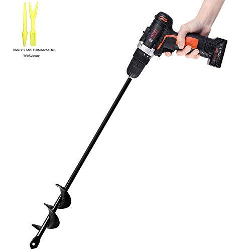 "Garden Auger Drill Bit Garden Auger Spiral Drill Bit 1.6"" x 16.5""Rapid Planter for 3/8"" Hex Drive Drill - for Tulips, Iris,..."