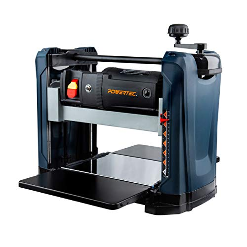 POWERTEC PL1252 15 Amp 2-Blade Benchtop Thickness Planer For Woodworking | 12-1/2 in. Portable