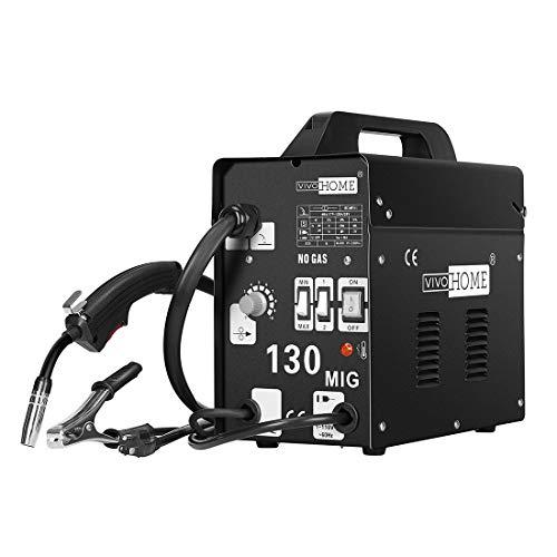 VIVOHOME Portable Flux Core Wire No Gas MIG 130 Welder Machine 110V Yellow
