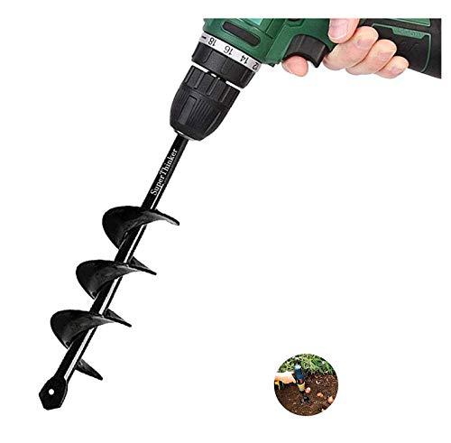 SuperThinker Auger Drill Bit for Planting, Garden Auger Spiral Drill Bits 1.6' x 9' Rapid Planter for Planting Bulb Seedlings&Bedding -...