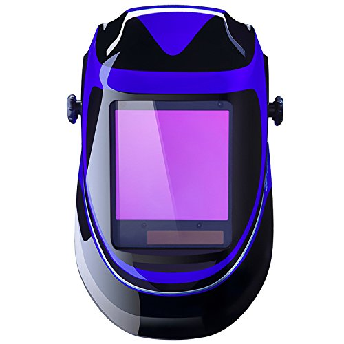 Solar Powered Welding Helmet Auto Darkening Professional Hood with Wide Lens Adjustable Shade Range 4/9-13 for Mig Tig Arc Weld...