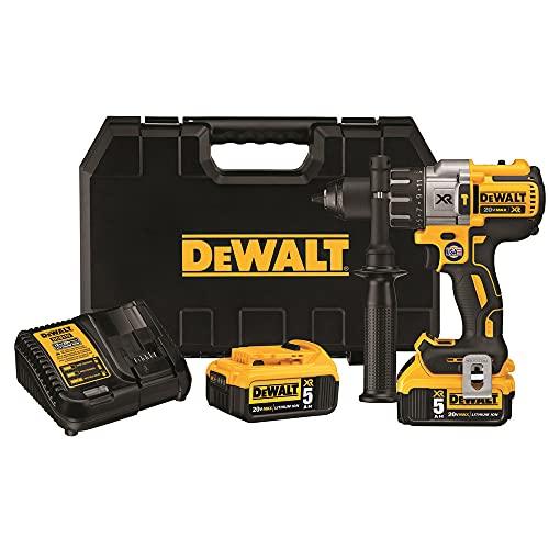 DEWALT 20V MAX XR Hammer Drill Kit, Brushless, 3-Speed, Cordless (DCD996P2)