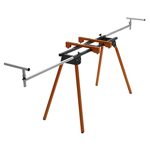 BORA Portamate PM-4000 - Heavy Duty Folding Miter Saw Stand with Quick Attach Tool Mounting Bars Orange, 44 x 10 x 6.5 inches
