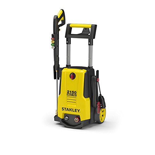 Stanley SHP2150 Electric Pressure Washer with Spray Gun, Quick Connect Nozzles Foam Cannon, 25' Hose, Max PSI 2150, 1.4 GPM