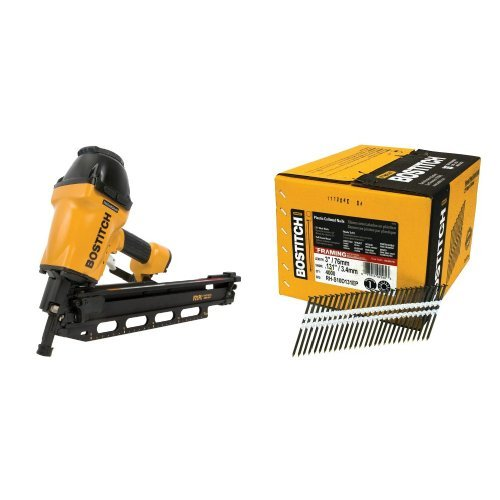 BOSTITCH F21PL Round Head 1-1/2-Inch to 3-1/2-Inch Framing Nailer with Positive Placement Tip and Magnesium Housing with RH-S10D131EP...
