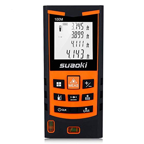 SUAOKI S9 198ft Portable Laser Distance Measure, Laser Measure with 2 Bubble Levels,Pythagorean Mode and Area, Volume Calculation and...