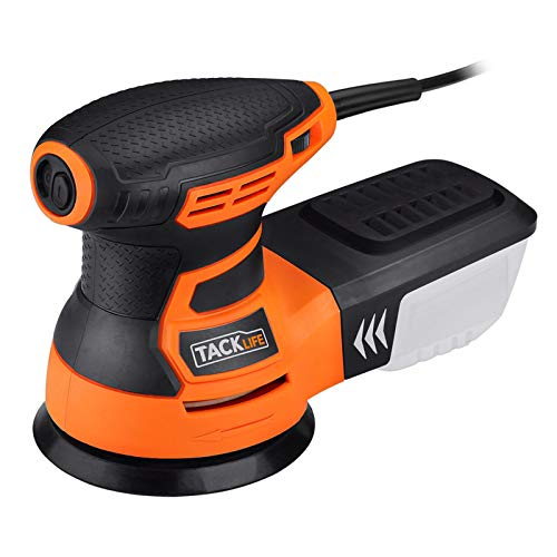 TACKLIFE 5-Inch Random Orbit Sander 3.0A with 12Pcs Sandpapers, 6 Variable Speed 13000RPM Electric Sander, High Performance Dust...