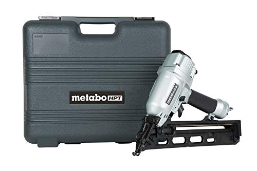 Metabo HPT Finish Nailer, 15 Gauge, Pneumatic, Angled, Finish Nails 1-1/4-Inch up to 2-1/2-Inch, Integrated Air Duster, Selective...