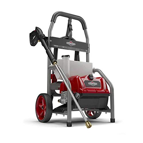 Briggs & Stratton S1800 1800 MAX PSI at 1.1 GPM Electric Pressure Washer with Detergent Tank, 20-Foot High-Pressure Hose, and Turbo...