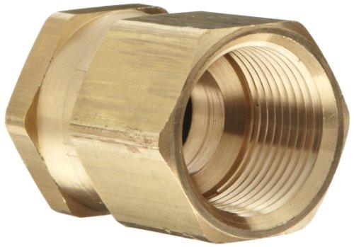 Dixon Valve & Coupling BAS976 Brass Fitting, Swivel Adapter, 3/4' GHT Female x 3/4' NPTF Female