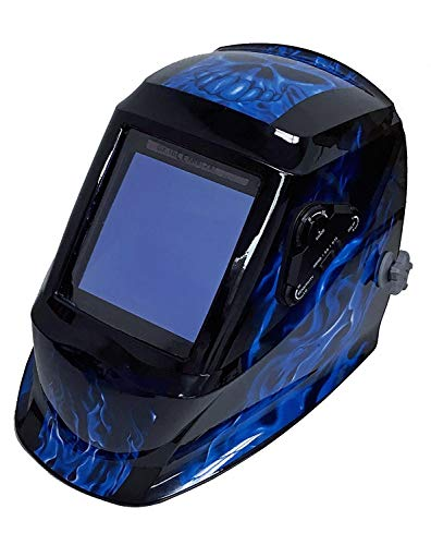 Instapark ADF Series GX990T Solar Powered Auto Darkening Welding Helmet with 4 Optical Sensors, 3.94' X 3.86' Viewing Area and...
