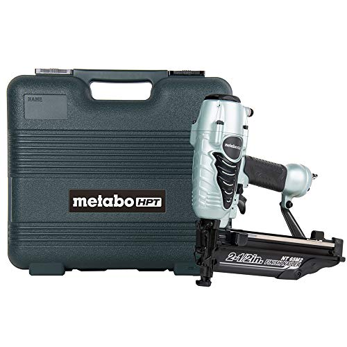 Metabo HPT Finish Nailer, 16 Gauge, Finish Nails - 1-Inch up to 2-1/2-Inch, Integrated Air Duster, 5-Year Warranty (NT65M2S)