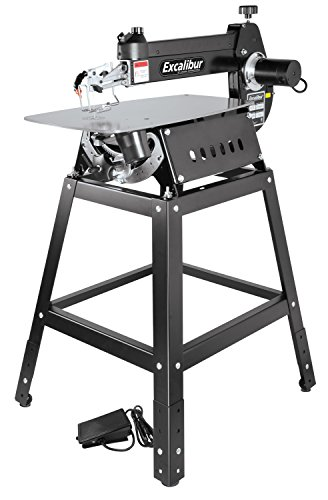 EXCALIBUR 21' Scroll Saw Kit - 1.3A Variable Speed Woodworking Saw & Stand with Tilting head & Foot Switch Controller - EX-21K