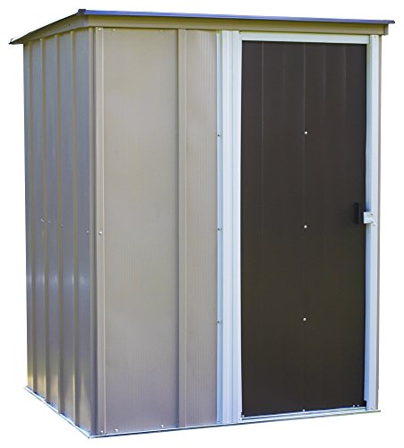 Arrow 5' x 4' Brentwood Steel Outdoor Storage Shed with Sloped Metal Roof
