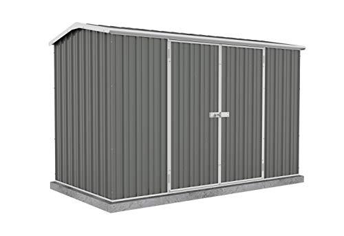 ABSCO 30152GK Premier Storage Shed, 10'x5', Woodland Grey