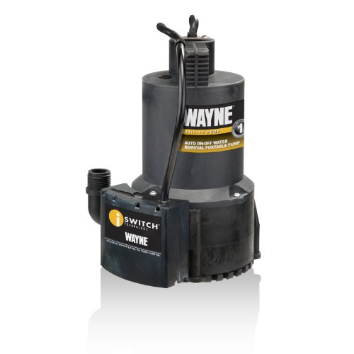 Wayne 57729-WYN1 EEAUP250 1/4 HP Automatic ON/OFF Electric Water Removal Pump , Black