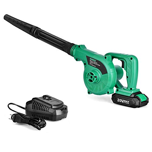 Cordless Leaf Blower - 20V 2.0 Ah Lithium Battery 2in1 Sweeper / Vacuum for Blowing Leaf, Clearing Dust & Small Trash,Car, Computer...