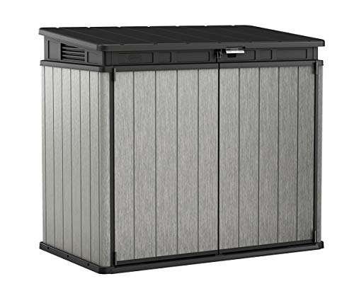 Keter Elite Store 4.6 x 2.7 Foot Resin Outdoor Storage Shed with Easy Lift Hinges, Perfect for Trash Cans, Yard Tools, and Pool Toys,...