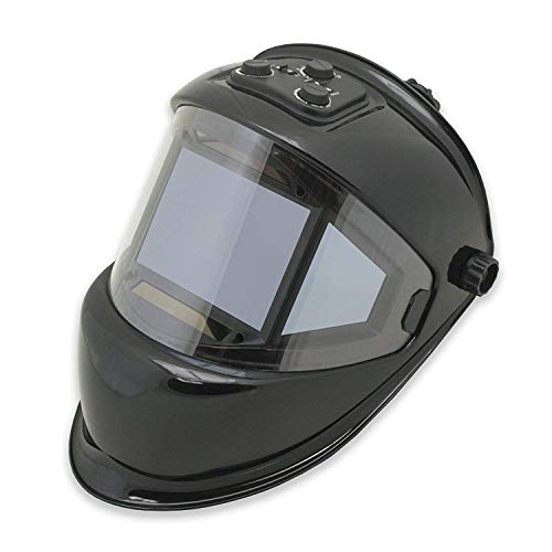 TGR Panoramic 180 View Solar Powered Auto Darkening Welding Helmet - True Color (BLACK)