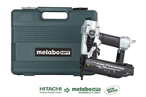 Metabo HPT NT50AE2 Pneumatic Brad Nailer, 5/8-Inch up to 2-Inch Brad Nails, 18 Gauge, Tool-less Depth Adjustment, Selective Actuation...
