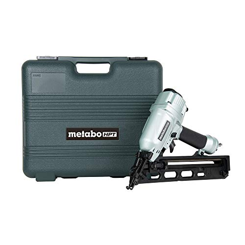 Metabo HPT Finish Nailer Kit, 15 Gauge, Pneumatic, Angled, Finish Nails 1-1/4-Inch up to 2-1/2-Inch, Integrated Air Duster, Selective...