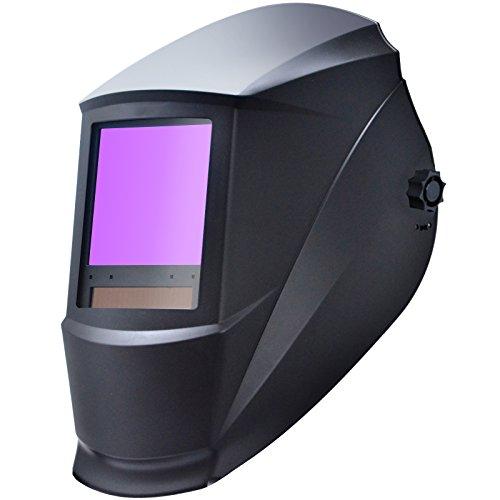 Antra AH7-860-0000 Auto Darkening Welding Helmet Huge Viewing Size 3.86X3.5' Wide Shade Range 4/5-9/9-13 Great for TIG MIG/MAG MMA...