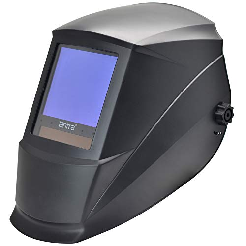 Antra AH7-860-0000 Solar Power Auto Darkening Welding Helmet AntFi X60-8 Jumbo Viewing Size 3.78'X3.5' Variable Shade 4/5-9/9-13 with...