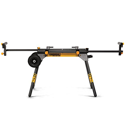 ToughBuilt - Universal 77' Miter Saw Stand/Support Stand - Universal Miter Saw Stand, Universally Compatible, 2 Work Supports Extend to...