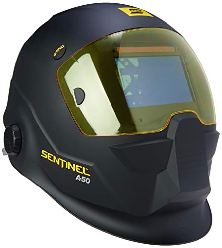 ESAB 0700000800 Sentinel A50 Welding Helmet, Black, 3.93 x 2.36 in. (100 x 60 mm) Viewing Area.