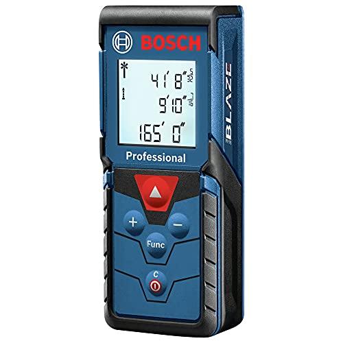 Bosch Blaze Pro GLM165-40 165ft Laser Distance Measure with Color Backlit Display