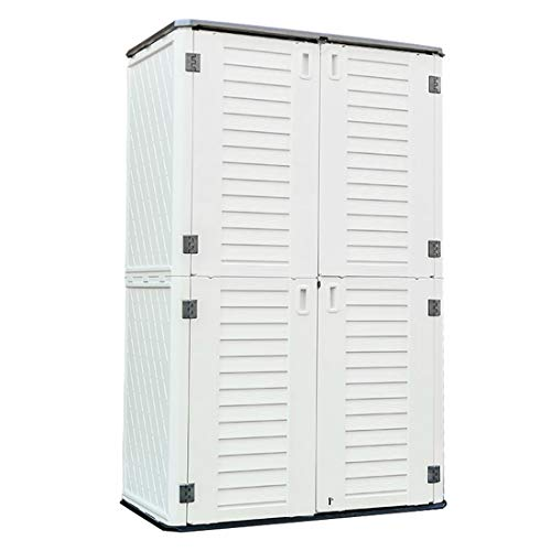 Kinying Outdoor Storage Cabinet, Vertical Storage Shed Perfect to Store Patio Furniture, Garden Tools Accessories,Bike,Beach Chairs and...