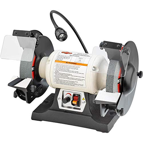 Shop Fox W1840 Variable-Speed Grinder with Work Light, 8'