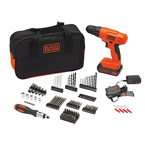 BLACK+DECKER 20V MAX Drill & Drill Bit Set, 100 Piece (BDC120VA100)