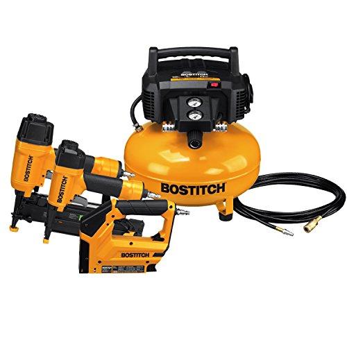 BOSTITCH Air Compressor Combo Kit, 3-Tool...