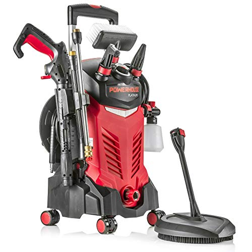 Powerhouse International - Electric High Power- Pressure Washer - 3000 PSI 2.2 GPM - Power Washer - Patio Cleaner - Hose Reel - Spray...