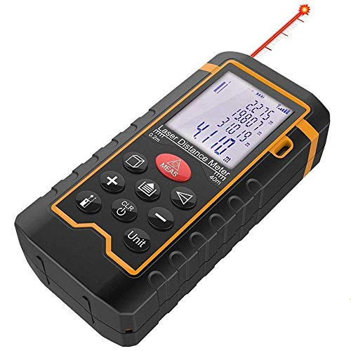 DBPOWER Digital Laser Measure 197FT/ 60M , Laser Distance Meter with Backlit LCD Screen, Single-distance Measurement/ Continuous...