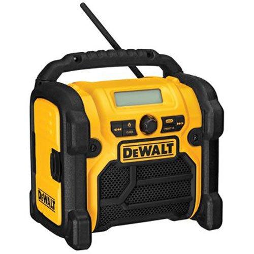 DEWALT 20V MAX/18V/12V Jobsite Radio, Compact (DCR018),Yellow & Black,10.10in. x 10.00in. x 7.30in.