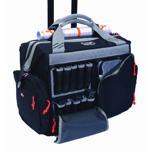 G.P.S. 2215RB Rolling Range Bag, Black, one Size