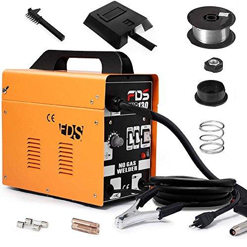 Goplus MIG 130 Welder Flux Core Wire Automatic Feed Welding Machine w/Free Mask