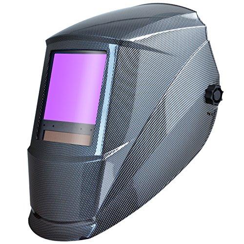 Antra AH7-860-001X Auto Darkening Welding Helmet Huge Viewing Size 3.86X3.5' Wide Shade Range 4/5-9/9-13 Great for TIG MIG/MAG MMA...