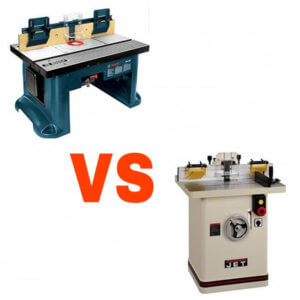 router table vs shaper