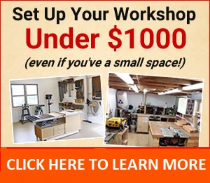 setup small complete woodworking shop
